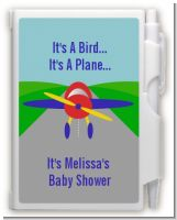 Airplane - Baby Shower Personalized Notebook Favor