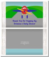 Airplane - Personalized Popcorn Wrapper Baby Shower Favors