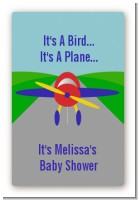 Airplane - Custom Large Rectangle Baby Shower Sticker/Labels