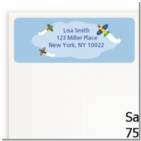 Airplane - Baby Shower Return Address Labels