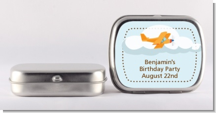Airplane in the Clouds - Personalized Birthday Party Mint Tins