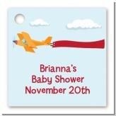 Airplane in the Clouds - Personalized Baby Shower Card Stock Favor Tags