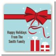 All Wrapped Up Gifts - Square Personalized Christmas Sticker Labels thumbnail
