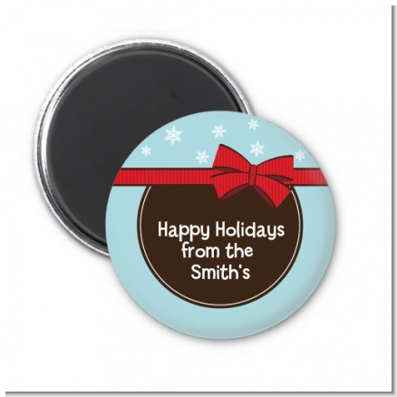 All Wrapped Up Gifts - Personalized Christmas Magnet Favors