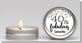 40 and Fabulous Glitter - Birthday Party Candle Favors
