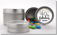 40 and Fabulous Glitter - Custom Birthday Party Favor Tins