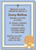 Angel Baby Boy Hispanic - Baptism / Christening Invitations