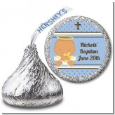 Angel Baby Boy Hispanic - Hershey Kiss Baptism / Christening Sticker Labels