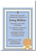 Angel Baby Boy Hispanic - Baptism / Christening Petite Invitations