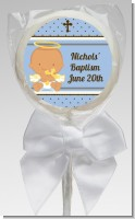 Angel Baby Boy Hispanic - Personalized Baptism / Christening Lollipop Favors