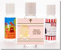 Angel Baby Girl Caucasian - Personalized Baptism / Christening Hand Sanitizers Favors