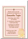 Angel Baby Girl Caucasian - Baptism / Christening Petite Invitations