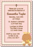 Angel Baby Girl Hispanic - Baptism / Christening Invitations