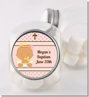 Angel Baby Girl Hispanic - Personalized Baptism / Christening Candy Jar