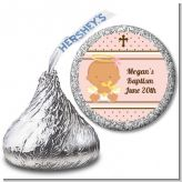 Angel Baby Girl Hispanic - Hershey Kiss Baptism / Christening Sticker Labels