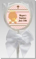Angel Baby Girl Hispanic - Personalized Baptism / Christening Lollipop Favors