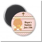 Angel Baby Girl Hispanic - Personalized Baptism / Christening Magnet Favors