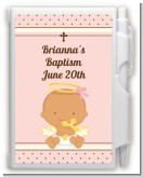 Angel Baby Girl Hispanic - Baptism / Christening Personalized Notebook Favor