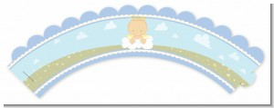 Angel in the Cloud Boy - Baby Shower Cupcake Wrappers