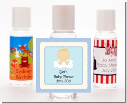 Angel in the Cloud Boy - Personalized Baby Shower Hand Sanitizers Favors