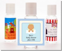 Angel in the Cloud Boy Hispanic - Personalized Baby Shower Hand Sanitizers Favors