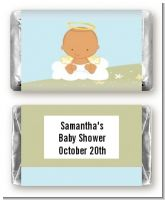 Angel in the Cloud Boy Hispanic - Personalized Baby Shower Mini Candy Bar Wrappers