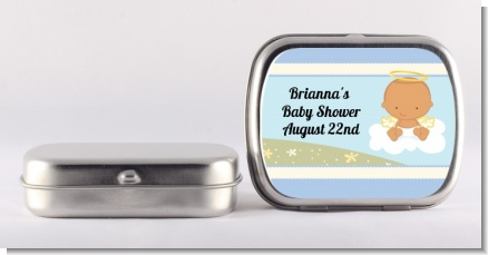 Angel in the Cloud Boy Hispanic - Personalized Baby Shower Mint Tins