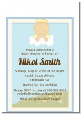Angel in the Cloud Boy - Baby Shower Petite Invitations