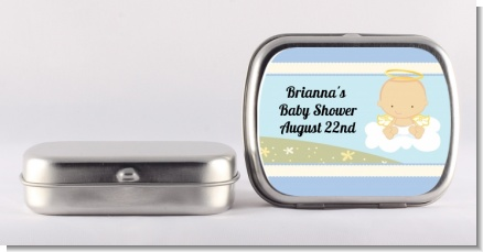 Angel in the Cloud Boy - Personalized Baby Shower Mint Tins