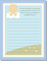 Angel in the Cloud Boy - Baby Shower Notes of Advice