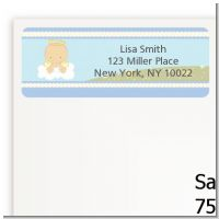 Angel in the Cloud Boy - Baby Shower Return Address Labels
