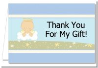 Angel in the Cloud Boy - Baby Shower Thank You Cards