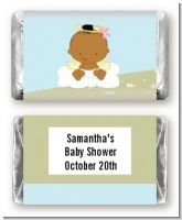 Angel in the Cloud Girl African American - Personalized Baby Shower Mini Candy Bar Wrappers