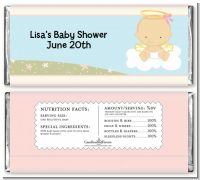 Angel in the Cloud Girl - Personalized Baby Shower Candy Bar Wrappers