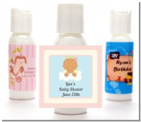 Angel in the Cloud Girl Hispanic - Personalized Baby Shower Lotion Favors