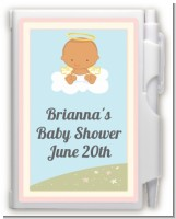 Angel in the Cloud Girl Hispanic - Baby Shower Personalized Notebook Favor