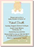 Angel in the Cloud Girl - Baby Shower Invitations
