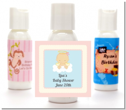 Angel in the Cloud Girl - Personalized Baby Shower Lotion Favors