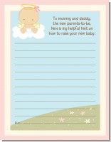 Angel in the Cloud Girl - Baby Shower Notes of Advice