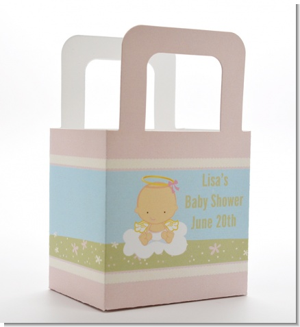 Angel in the Cloud Girl - Personalized Baby Shower Favor Boxes