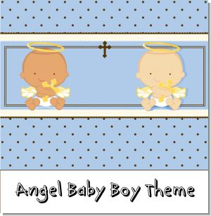 Angel Baby Boy Baptism Theme