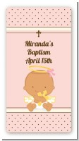 Angel Baby Girl Hispanic - Custom Rectangle Baptism / Christening Sticker/Labels