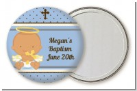Angel Baby Girl Hispanic - Personalized Baptism / Christening Pocket Mirror Favors