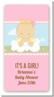Angel in the Cloud Girl - Custom Rectangle Baby Shower Sticker/Labels