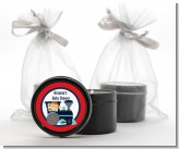 Animal Train - Baby Shower Black Candle Tin Favors