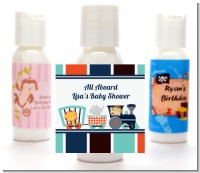 Animal Train - Personalized Baby Shower Lotion Favors