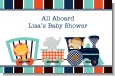 Animal Train - Personalized Baby Shower Placemats thumbnail