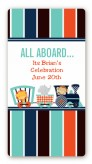 Animal Train - Custom Rectangle Baby Shower Sticker/Labels