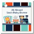 Animal Train - Personalized Baby Shower Card Stock Favor Tags thumbnail
