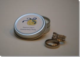 Candle Tin Small Soy Personalized Anniversary Favors